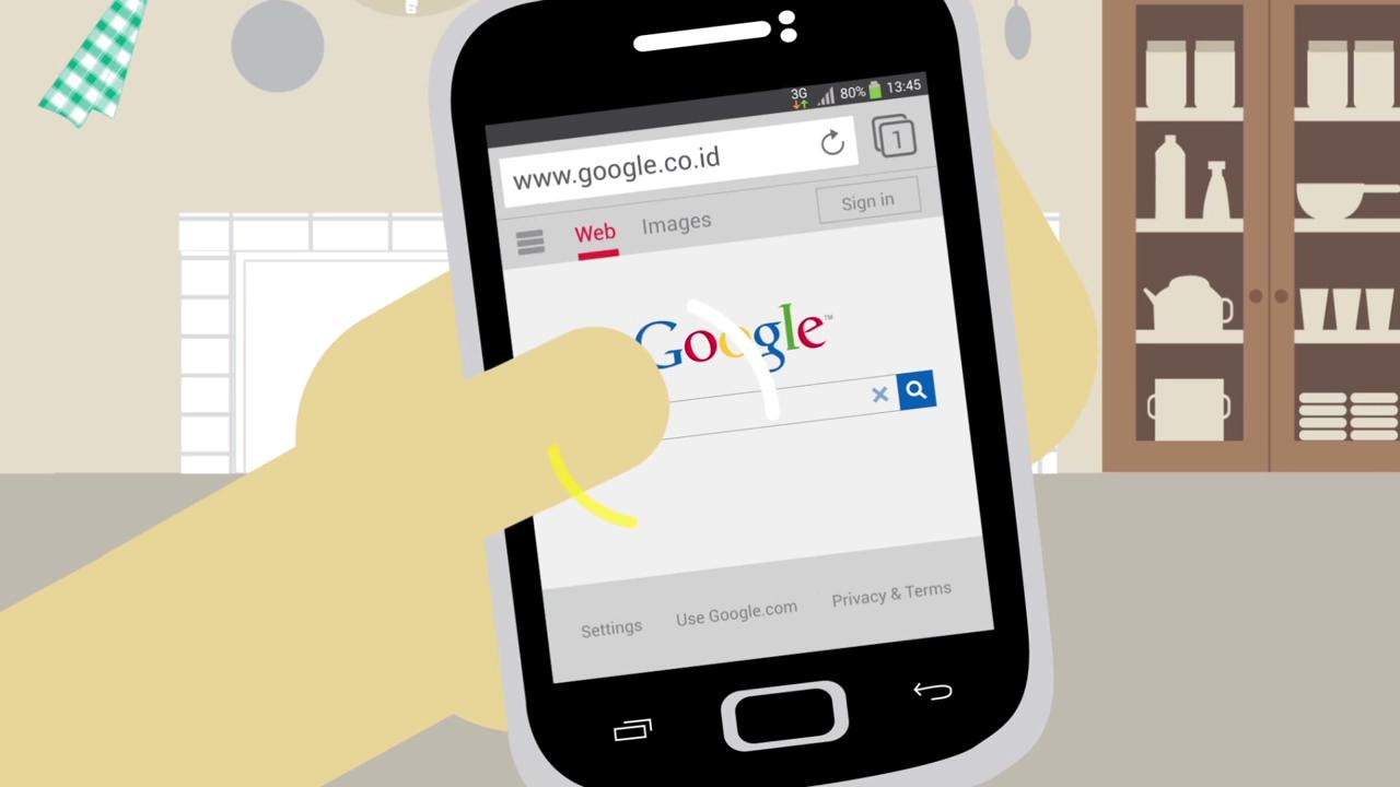Cara Internetan di Handphone Android (HD)5